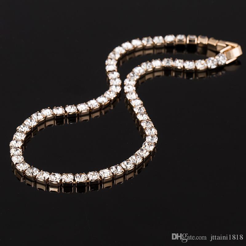 حار بيع جديد إمرأة كريستال حجر الراين طوق قلادة قلادة لفتاة الزفاف عيد مجوهرات شحن مجاني # N062
