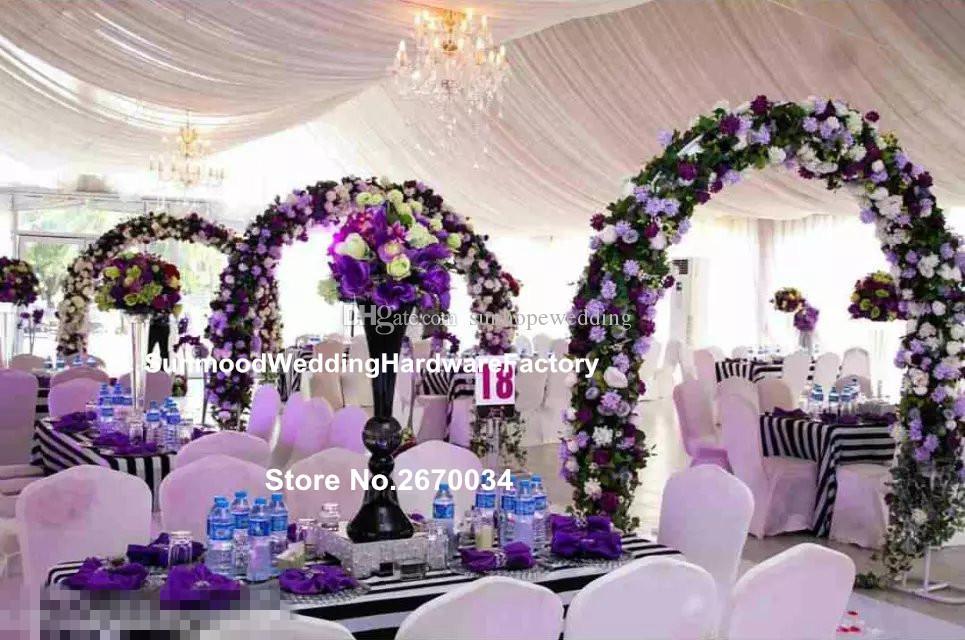 legant metal çiçek vazo, düğün ev dekorasyon için trompet vazolar centerpieces