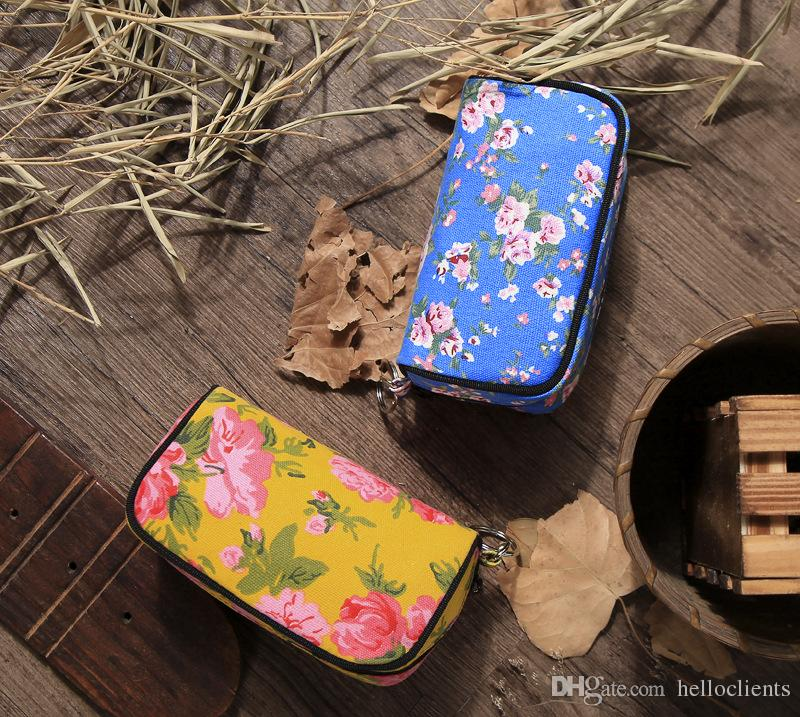 fashion Ms Popular and Hot Candy Color Golden Crown Wallet Multi-purpose Hand Carry Hand Bag Chinese style canvas lady handbag