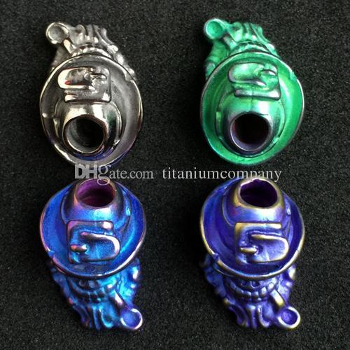 Diametro in titanio manico da barba pieno manico in titanio TC4, colore anodizzato, diametro 6 mm, diametro 7,4 g