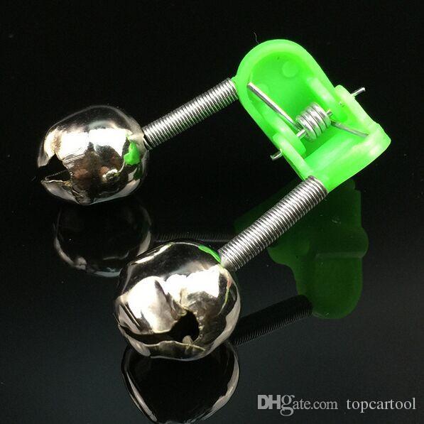 5 Teile / los Angelrute Bissanzeiger Glocken Twin Glocken Clip Warner Fisch Bissanzeiger Angelgerät Werkzeug Pesca Acesorios