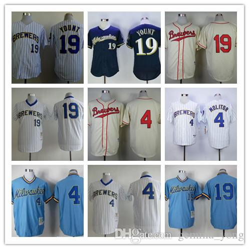 buy online dd1b4 bc891 spain brewers 4 paul molitor navy blue alternate stitched ...