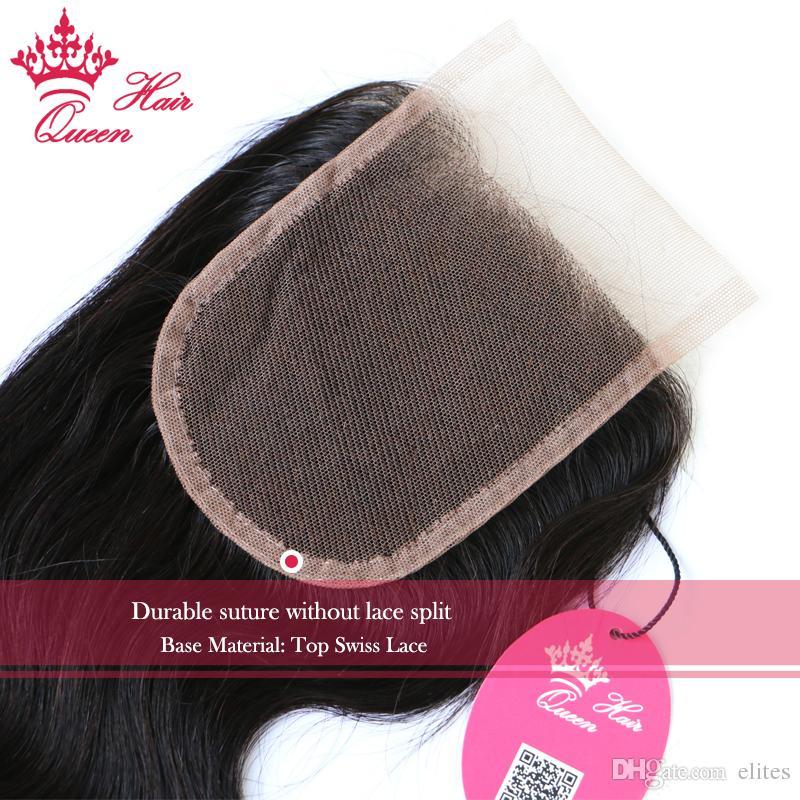 여왕 머리 제품 100 % 버진 인간의 머리 브라질 레이스 폐쇄 바디 웨이브 8-20inch # 1B 자연 색상 8A 급 DHL 빠른 배송