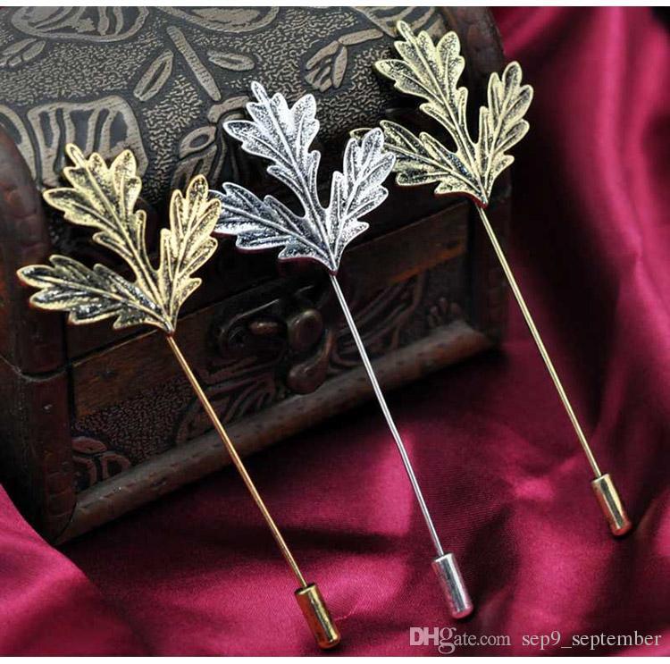 Brooch Wedding Brooch Vintage Leaves Gentlemen Lapel Pins Fashion Flower Brooch for Men Women Suit Men Lapel Pin