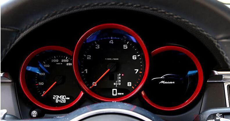 car dashboard decoration cover trim for porsche macan (6)