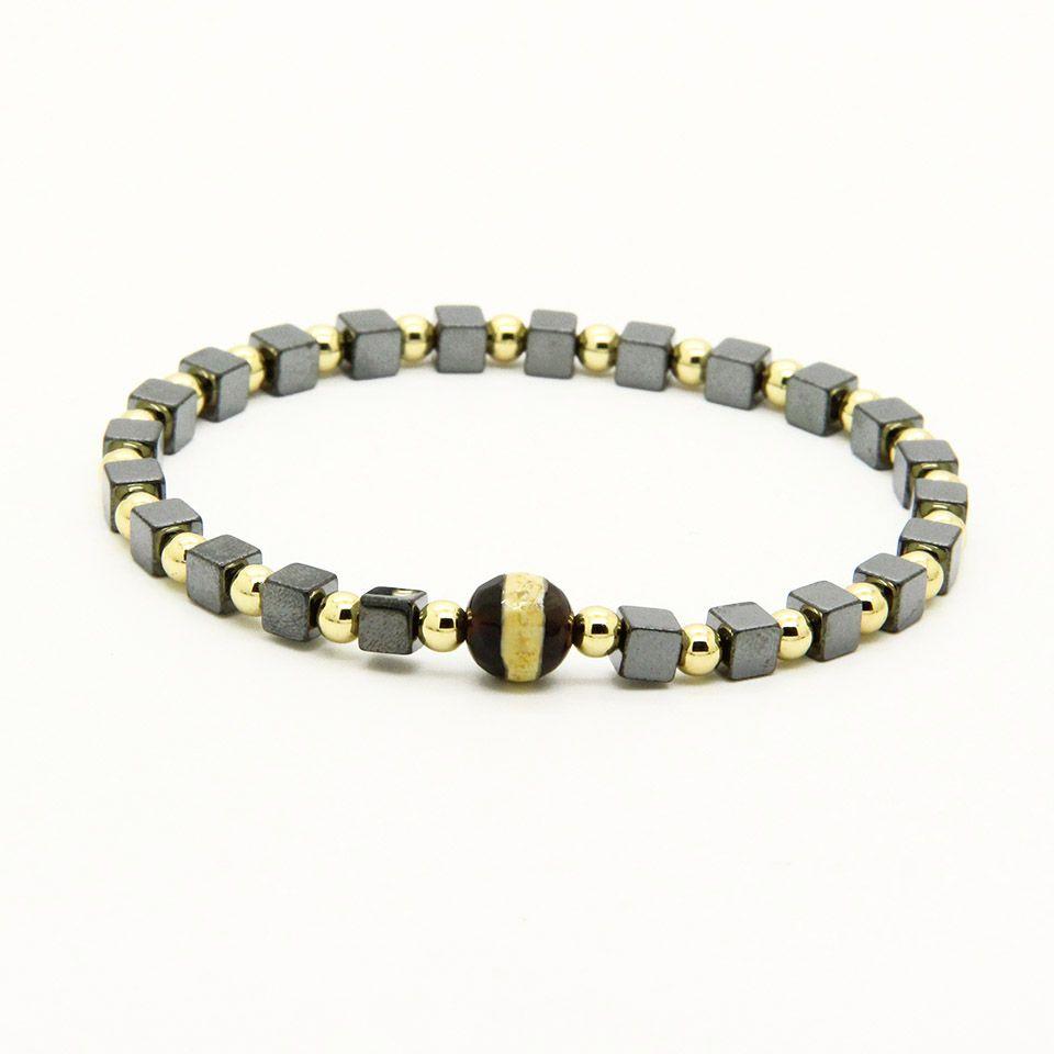 Religious Jewelry 4mm Copper Beads With Square Hematite Stone Dzi Eye Lucky  Energy Bracelets Cheap Charms For Bracelets Vintage Charm Bracelets From