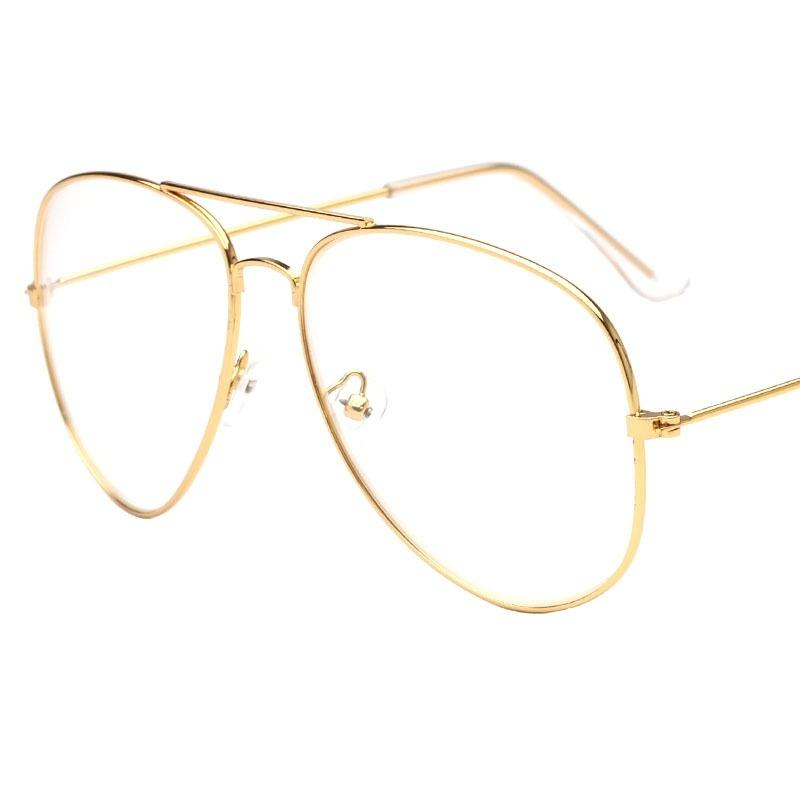 2017 Brand Clear Glasses Women Classic Optics Glasses Aviation Alloy ...