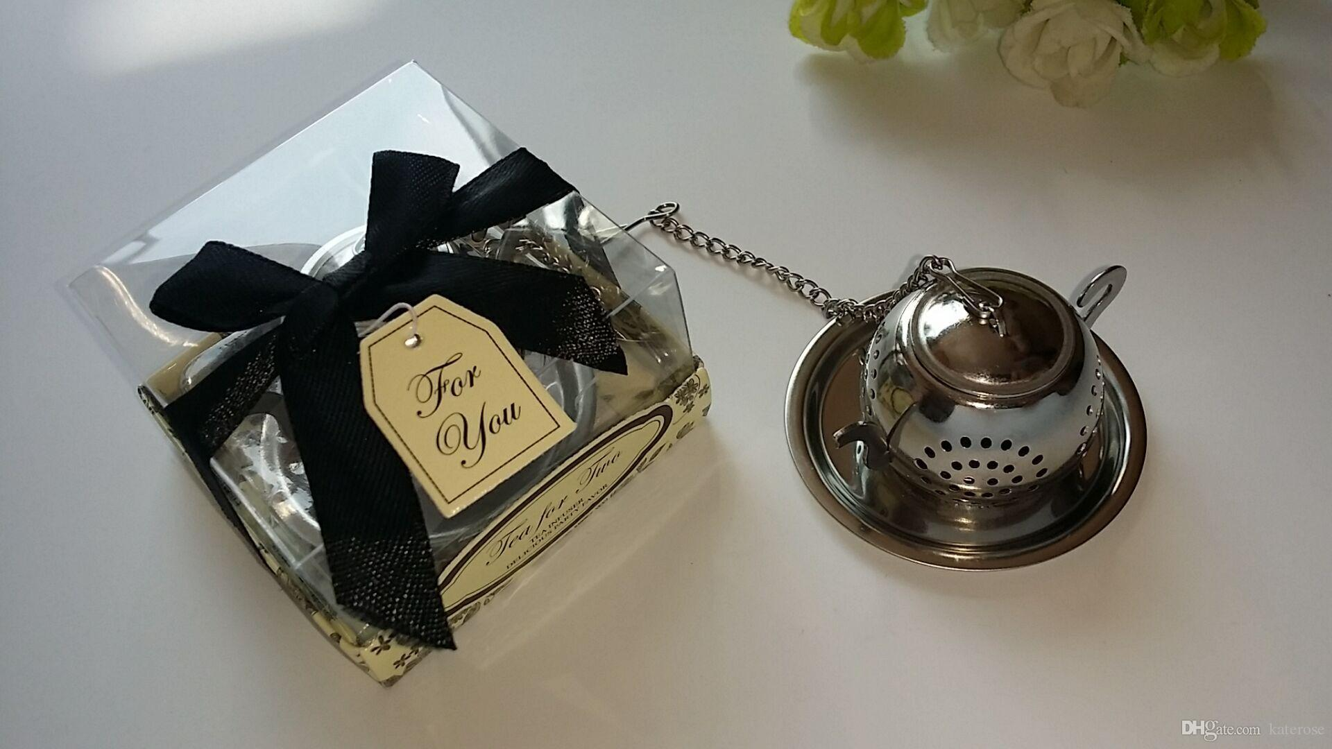 Tea For Two Stainless Steel Round Teapot Tea Infuser Kitchen Wedding