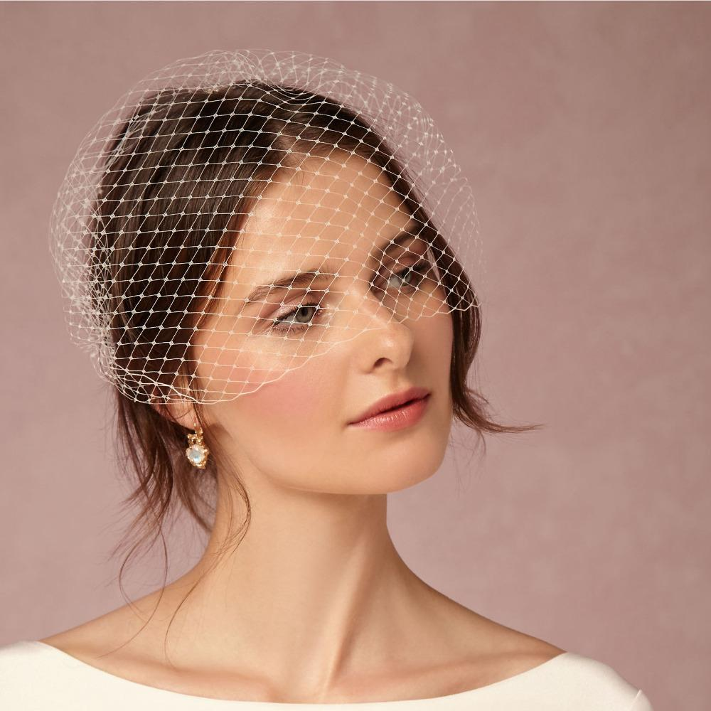 wholesale classical short wedding veil with comb bridal hair