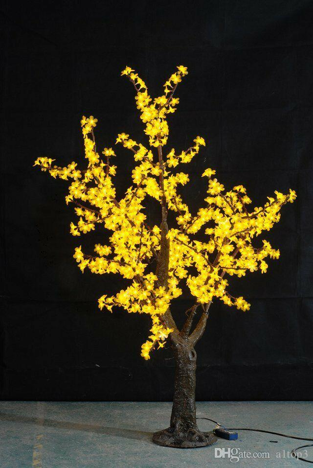 Good 2018 Free Ship 5ft 1.5m Height Yellow Led Simulation Cherry Blossom Tree  Outdoor /Indoor Wedding Garden Holiday Christmas Light Decor 480 Leds From  A1top3, ...