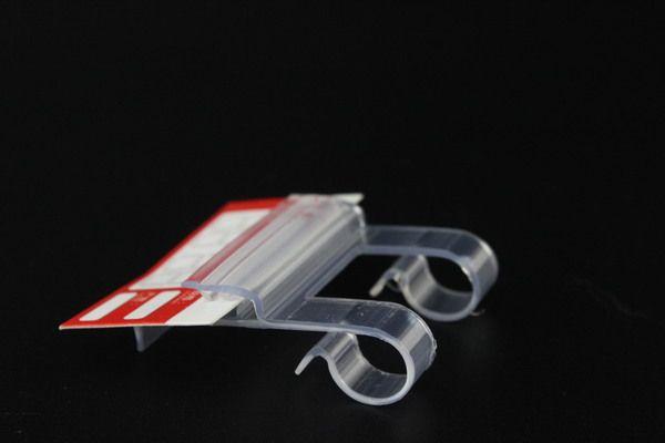Draht Regal Etikettenhalter Streifen POP-Kartenhalter Preis Talker Point of Signage Zeichen Tag Griffclips Werbung Präsentationsständer