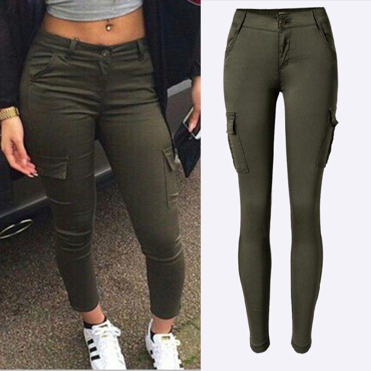 570f2e9be Compre Streetwear Exército Verde Jeans Mulheres Sexy Low Rise Senhoras  Skinny Pencil Calças Jeans Plus Size Calças De Molystory, $17.68 |  Pt.Dhgate.Com