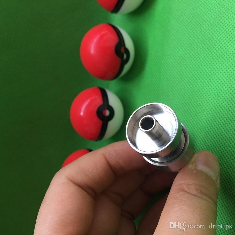 Outil à bong en verre avec récipient contenant Pokeball 10mm 14mm 18mm Réglable Domeless