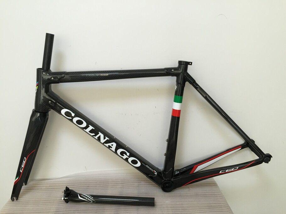 Colnago Carbon Handlebar Black Colnago C60 carbon frameset road bike Frame carbon bicycle gold color design frameset