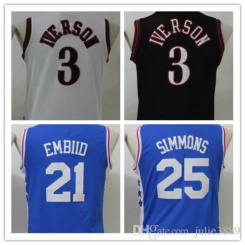 3c1dc80cc06 ... Philadelphia 76ers WHITE RED,youth mlb baseball jerseys 2017 Cheap 2017  Newest Youth 3 Allen Iverson Jersey Black Blue White Boys 21 Joel Embiid
