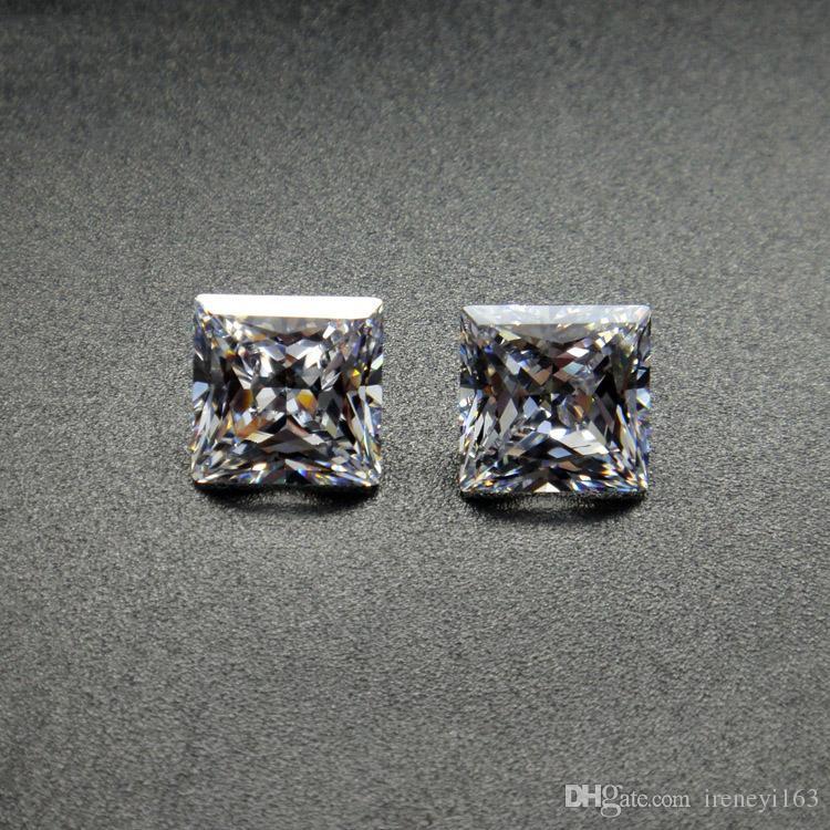 Fabrik Direkt Clear Square Zirkonia Top Qualität Brilliant Machine Cut Synthetische Lose Diamant Für Schmuck Machen 100 teile / los Freies