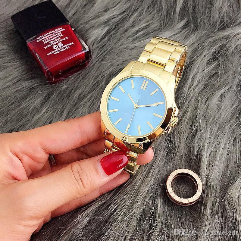럭셔리 패션 여성 시계 스테인레스 스틸 럭셔리 레이디 빅 핑크 다이얼 손목 시계 유명한 고품질 여성 드레스 시간 무료 배송