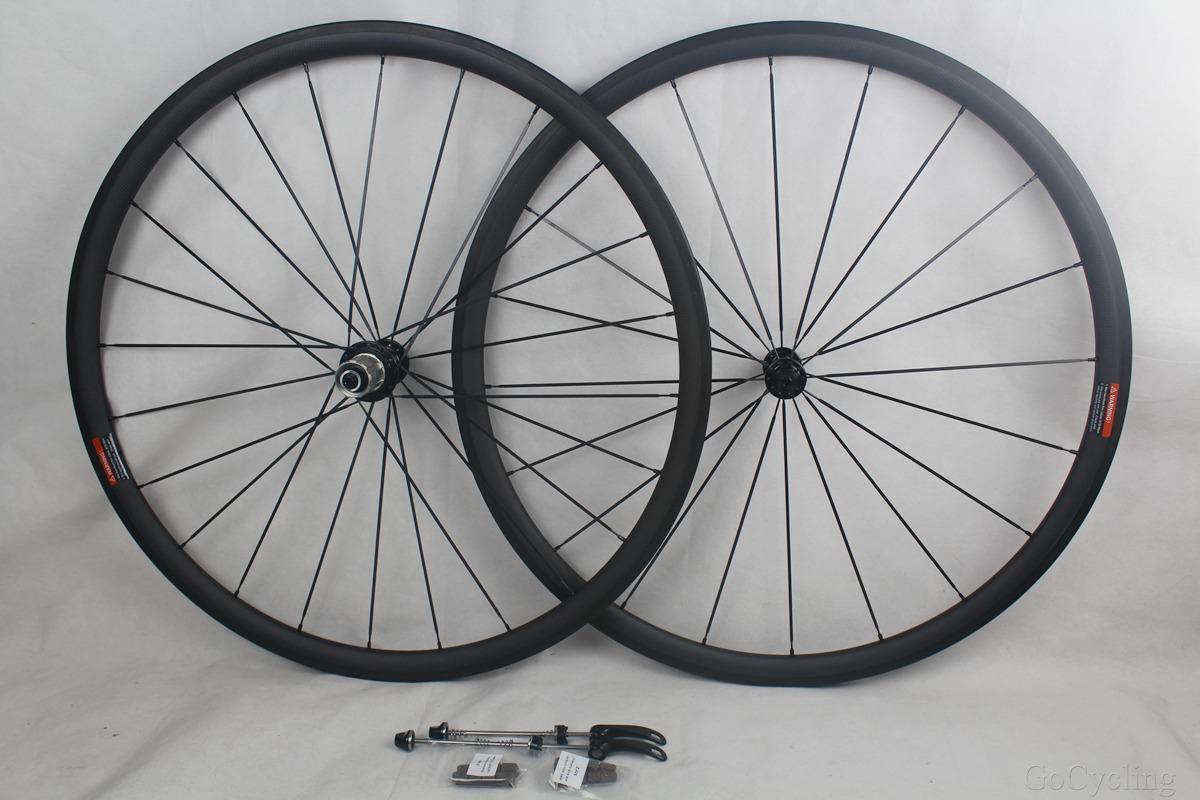 Carbon bike road wheels depth 30mm powerway r13 hubs width 25mm clincher tubular road bicycle wheelset basalt braking surface