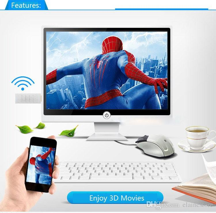 Sıcak Kablosuz Wifi Airplay Telefon için HDMI TV Dongle Adaptörü iphone 6 6 S Artı SE Samsung Galaxy S7 Kenar S6 S5 Not 5 4 3 HTC LG
