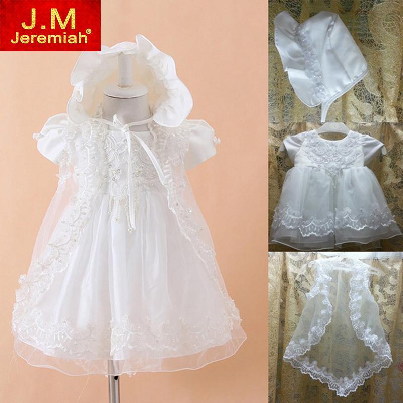 2018 Wholesale Baby Girls Christening Gowns Newborn Baptism Dress 1 ...