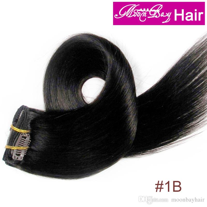 Moonbay Remy Human Hair 15 18 20 1b 70g 100g Brazillian Indian Hair