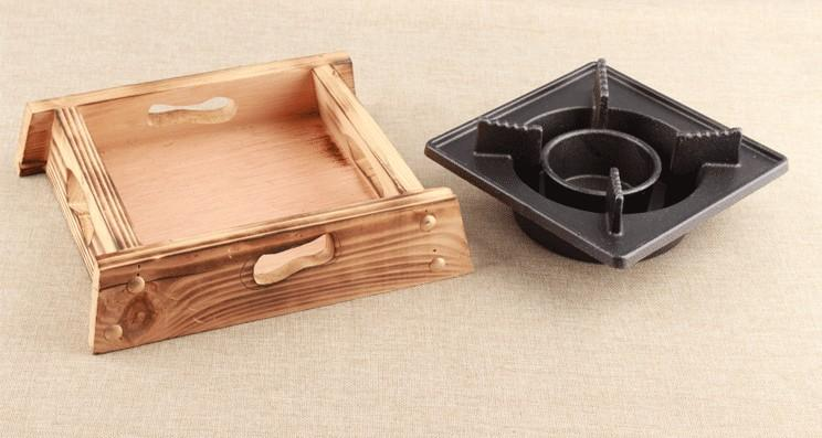 mini wooden cast iron stove bbq grills small boiler tea stove for Hotel restaurant household 035