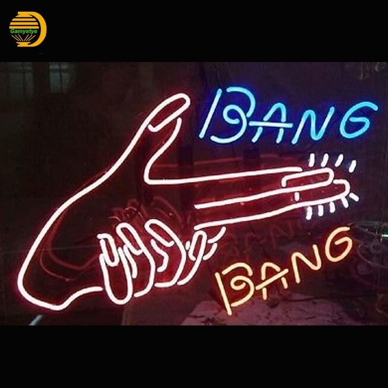2018 Wholesale Bang Bang Neon Sign Hand Nail Neon Bulbs Arcade ...