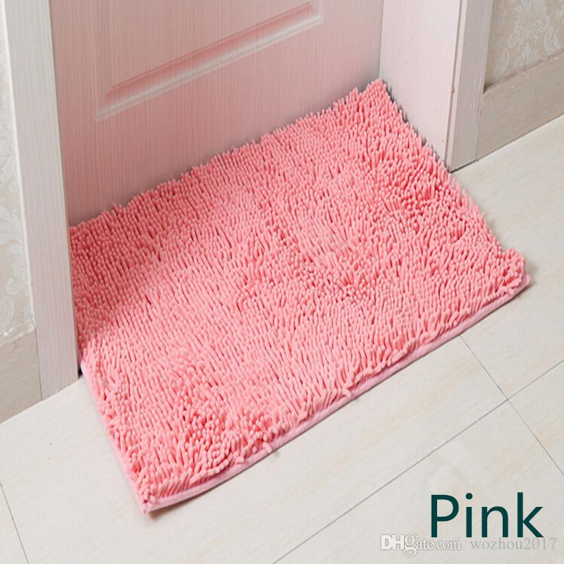 Rectangle Pink Washable New Thick Chenille Carpet Shaggy Rugs Bath ...