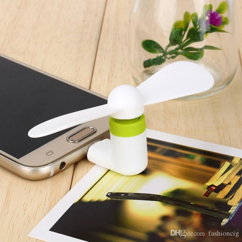 Mini USB Fan 5Pin Flexible Small-scale Portable Super Mute Cooler Cooling For Cellphone DHL Free