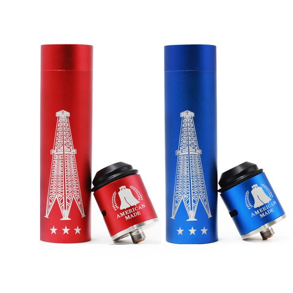 Rig V3 Mod Mechanical Rig V3 Mod Starter kits Red Copper With terk RDA kit for 18650 battery RDA Atomizers vape E cigs DHL Free