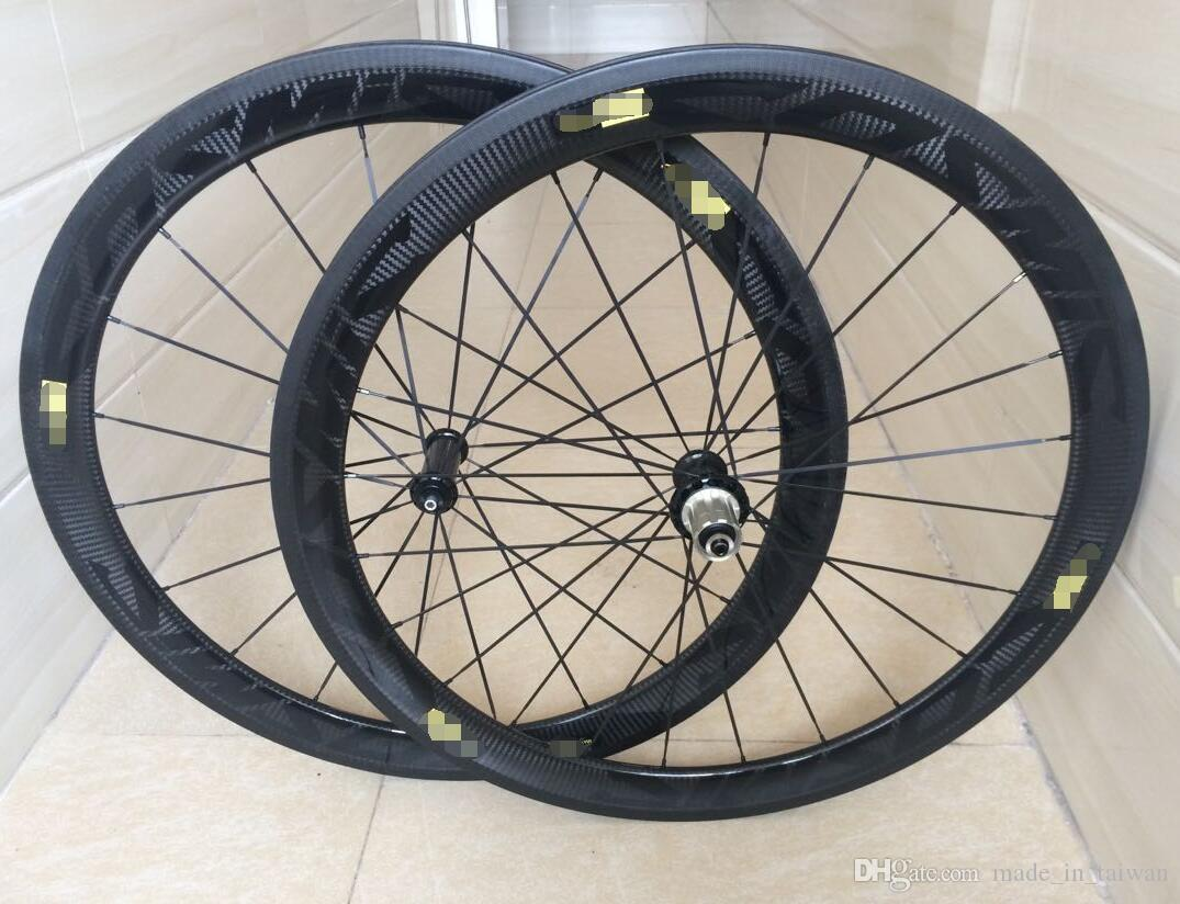 Newest style 50mm 3k Twill black carbon wheels 50mm clincher 11s road bike carbon wheels china cheap cycling bicycle wheels