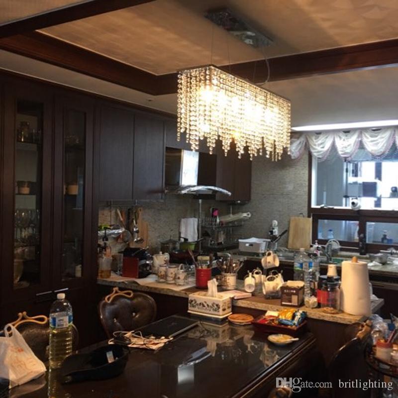 Modern kristall ljuskrona belysning för matsal LED Crystal ljuskronor LED Pendant Light Gardin Lights LED industriell hänge ljus