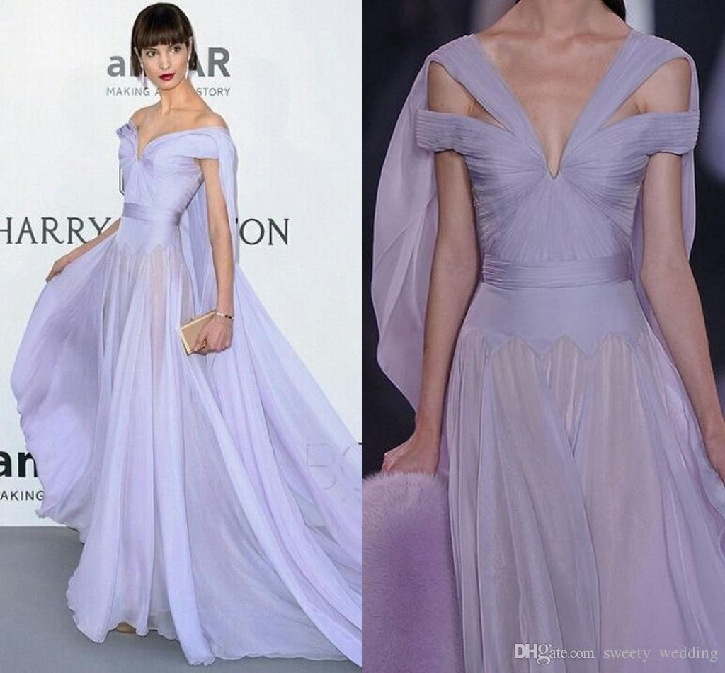 Ralph And Russo Wedding Dresses: Lavender Lilac Chiffon Ralph & Russo 2016 Celebrity