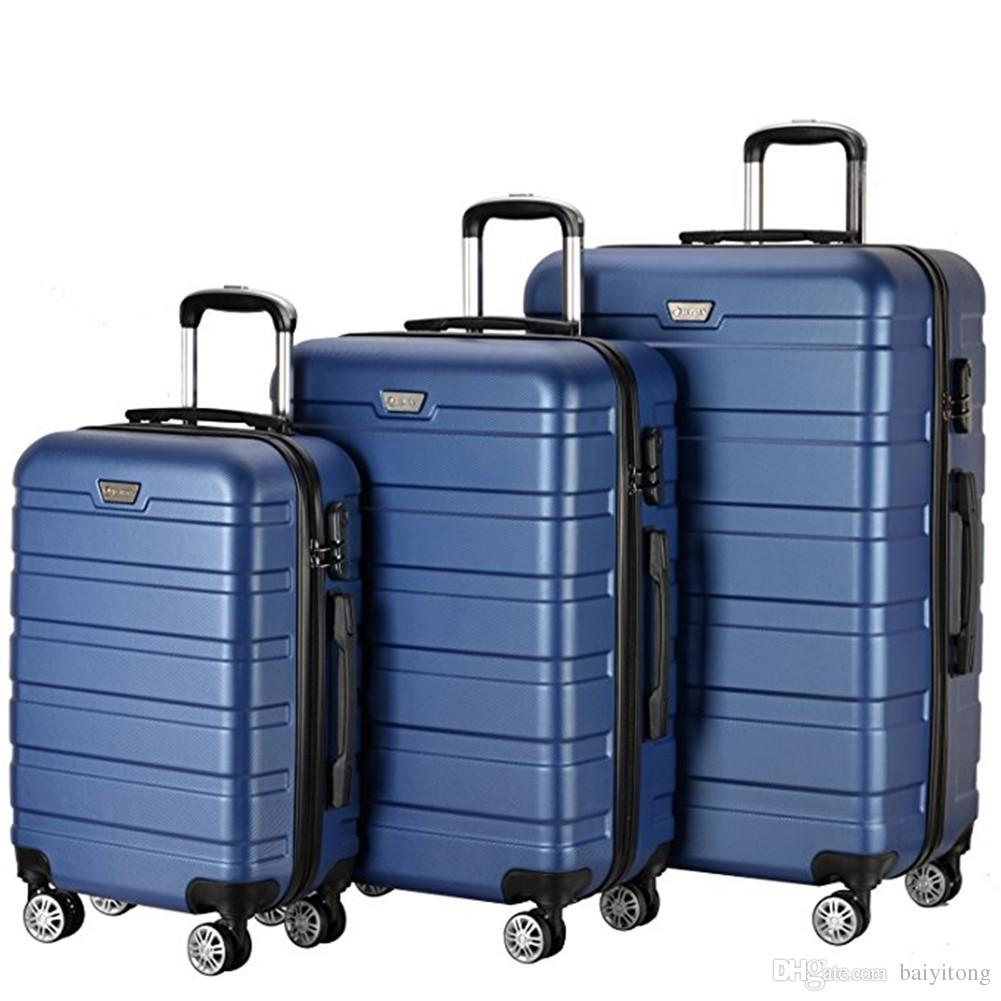 Lightweight Carry On Luggage Set Wheel Spinner Suitcase