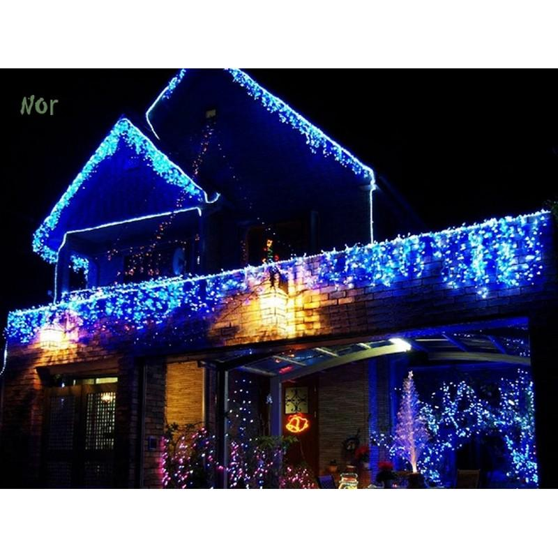 wholesale eu 5m 20 led christmas icicle lights shape string fairy light xmas decoration christmas lights outdoor guirlande lumineuse led sv009493 cheap