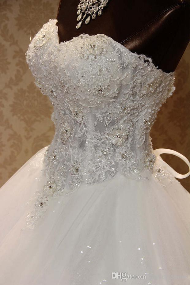 Vestido de fiesta Una línea Vestidos de novia Cariño Apliques de encaje Con cordones Princesa Vintage Garden Country Boda Vestidos de novia