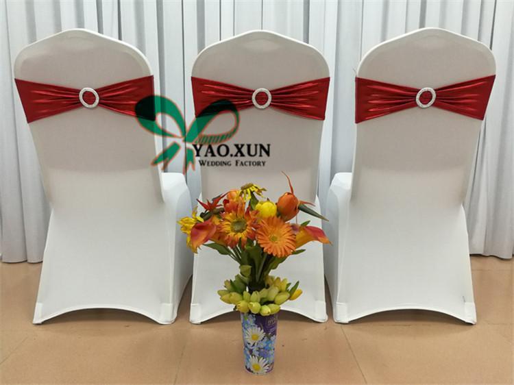 Оптовая цена Бронзировать покрытием Strech Председатель Sash \ лайкра спандекс стул диапазона для венчания Председатель Обложка