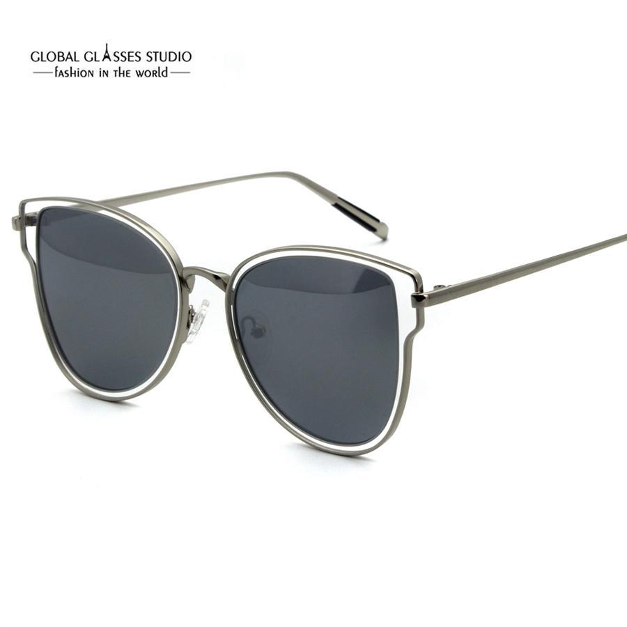 9e9ceb37c6f Fashion Luxury Slim Design Sunglasses Cat-Eye Shape For Woman Hollow ...