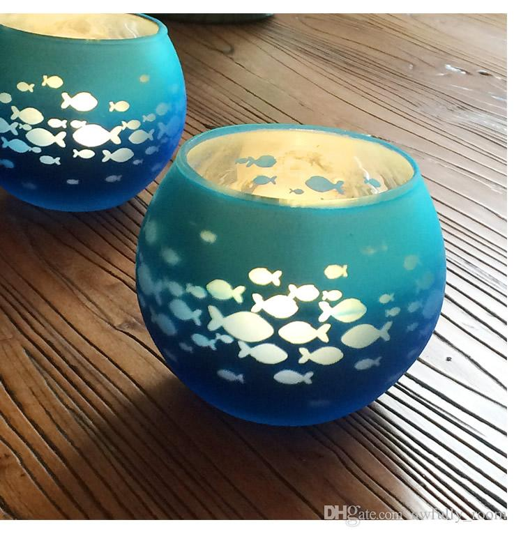Artefakte Glas Votiv Kerzenhalter Speckled Silbrig Gold Glas Votiv Teelicht Kerzenhalter für Hochzeiten Parties und Home Decor