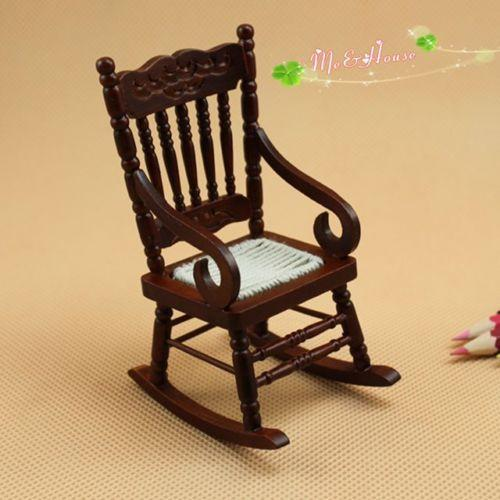 1:12 Dollhouse Furniture Miniature Rocking Chair Wood Rolling Chair  Dollhouse Kits Doll Houses For Sale From Dudu20070221, $11.46| Dhgate.Com