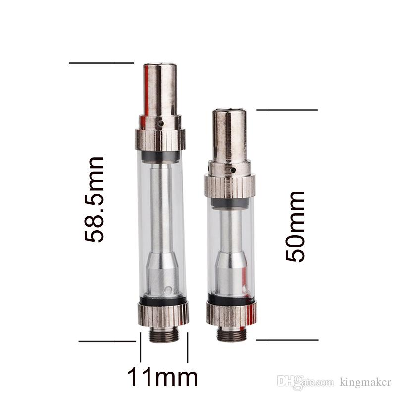 AMIGO Liberty V1 Cartridges 0.5ml 1.0ml Pyrex Glass tank With Metal Tip Thick Oil Atomizer Co2 Clearomizer VS liberty V5 V10