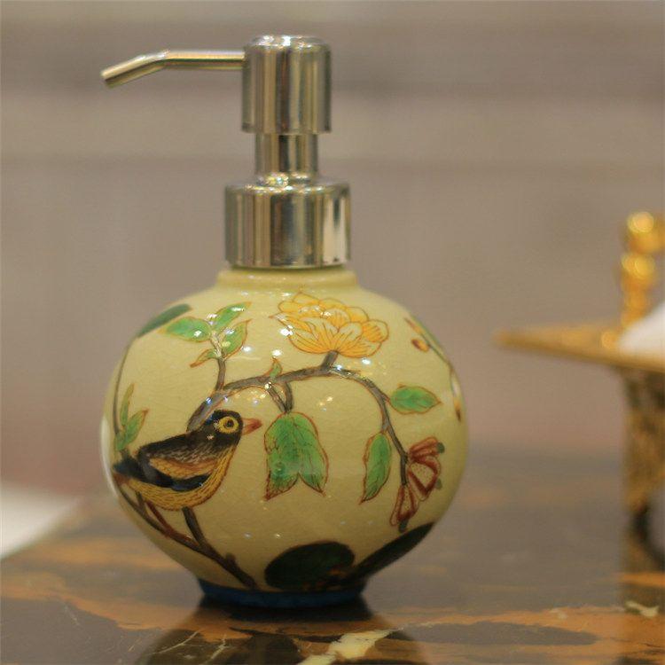 Beau 2018 China Ceramic Hand Painted Soap Dispenser Ball Shape 300ml Wedding  Chrismas Gift Hand Sanitizer Bottle Lotion Pump Bathroom Dispenser From  Funfishing, ...