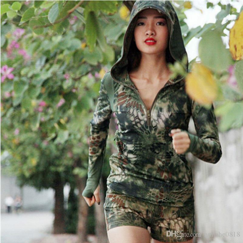 Tactical Women Quick Dry Hoody Clothes Camouflage