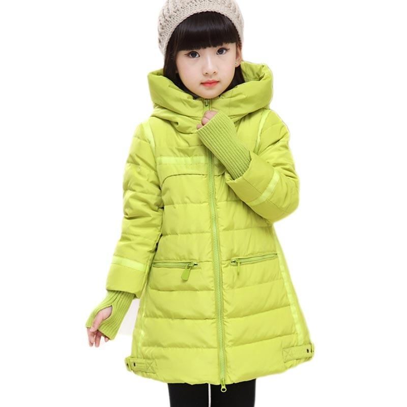 Girls Winter Coats Long Thick Warm Down Teenage Winter Down Jacket ...