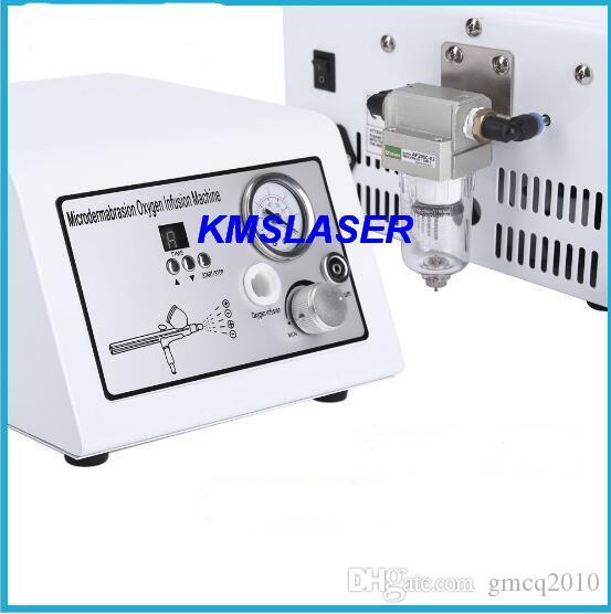 2 bar High vacuum oxygen jet peel microdermabrasion 9 wands facial care salon home use beauty machine