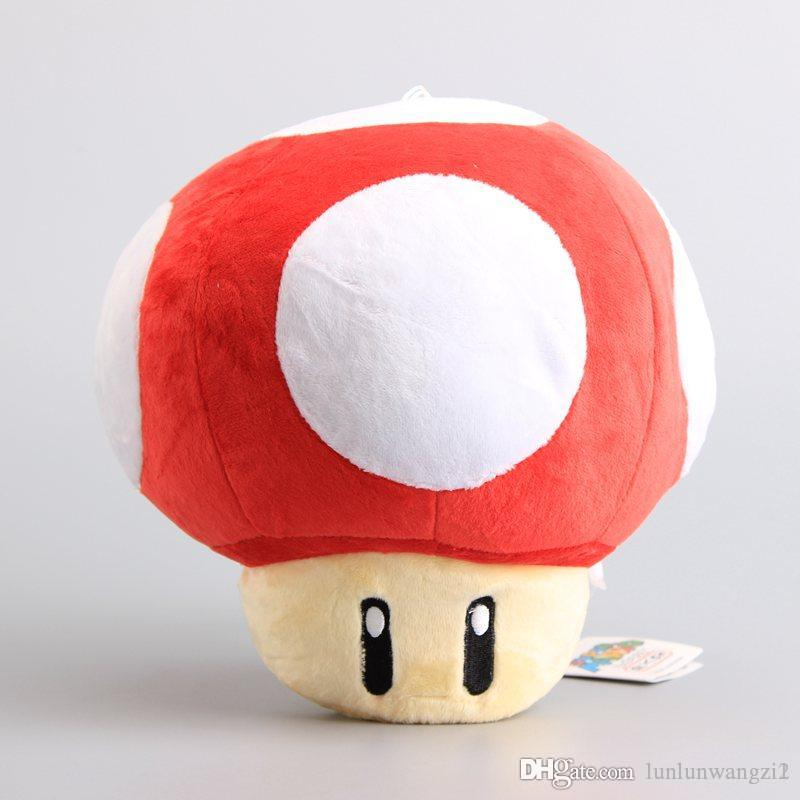 High Quality Super Mario Bros Game Toys Mushrooms Plush Toy 4 Colors Green Red Stuffed Dolls Children Biethday Gift 9 22 Cm