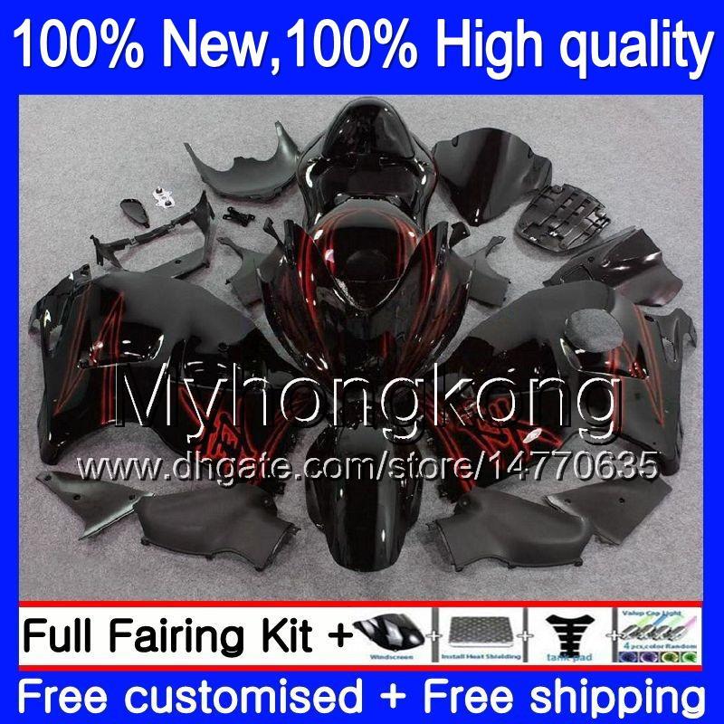 Corpo corporeo per Suzuki Hayabusa GSXR 1300 02 03 04 05 06 07 15LQ GSX R1300 GSXR-1300 GSXR1300 96 97 98 99 00 01 Nuovo kit di carenatura nera rossa