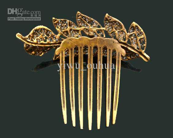 Wholesale Vintage Hair Jewelry Women Zinc alloy rhinestone hair combs Hair Accessories mixed color FK244