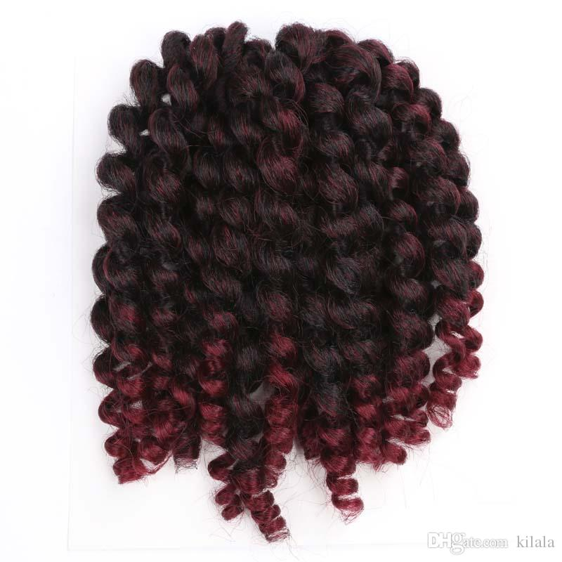 8 10 Inch Wand Curl Crochet Hair Extensions Fashion Kinky Twist Hair