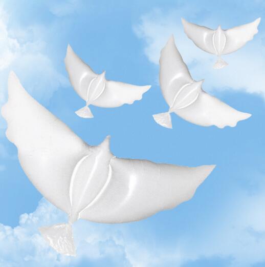 Свадебный гелий надувные биоразлагаемые белые Dove Баллоны для свадебного украшения голуби фасонных био шары